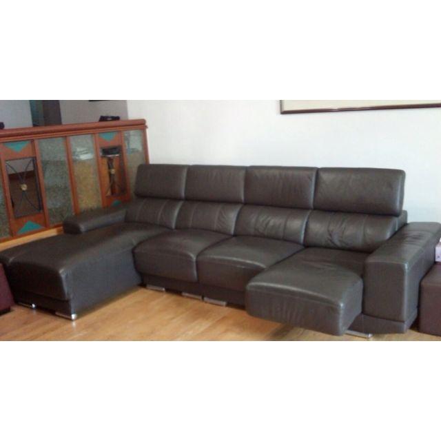 L Shaped Comfy Leather Sofa Furniture