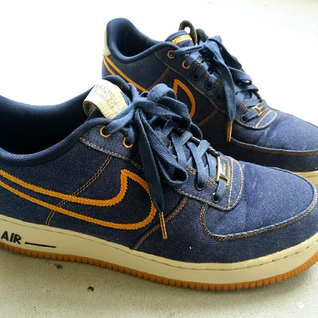 finest selection c5f82 c1266 Nike Air Force 1 Low Premium Denim Bronze US11, Men s Fashion on ...