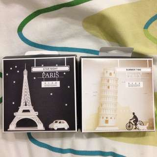 DIY model of Eiffel and Pisa towers
