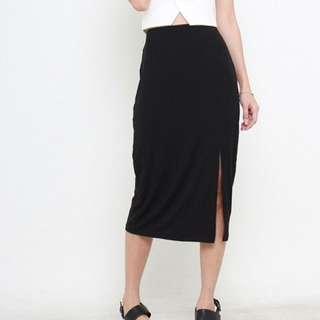 Midi Side Slit Skirt (PENDING)