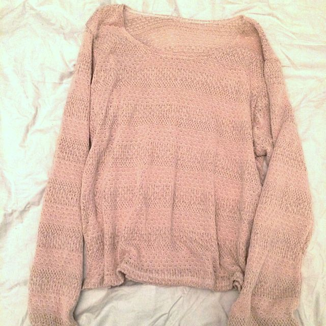 Pale Pink Knitted Jumper