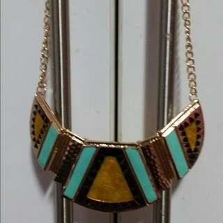 Yellow Turquoise Statement Necklace