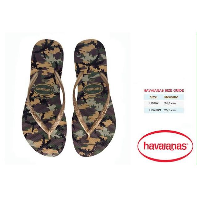 ab827e591930d Havaianas Slim Camouflage - Green Olive
