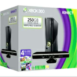 Full Set Xbox 360 250GB with Kinect