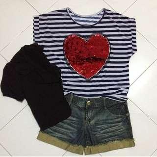 😜(SALE)Oversized Heart Shape Top