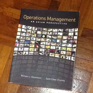 Operations Management An Asian Perspective
