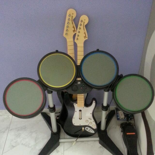 PS3 Rock Band Set, Toys & Games on Carousell