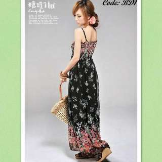 [Instock] Brand New Chiffon Maxi Dress