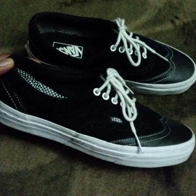 c21a657029de06 Vans Era Suede Leather Wingtip Black