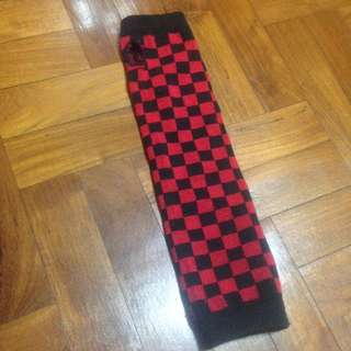 Red And Black Checkered Arm Warmer