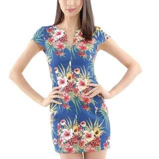 Hvv Jamaica Floral Dress Xs