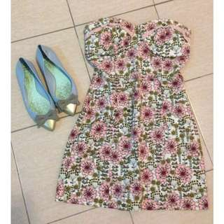 Zara TRF Flowery Tube Dress