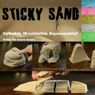 STICKY SAND Play sand Motion Sand Kinetic sand
