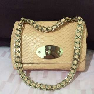 Mulberry Cecily Snake Print In Nude Color