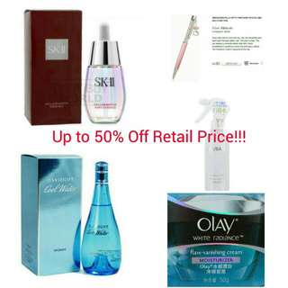 UP TO 50% OFF RETAIL PRICE!! STARTING FROM $10 & ABOVE!!!