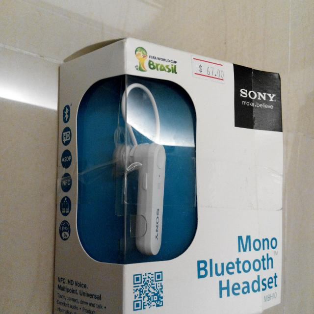 Bt Nfc Sony Mbh10 Handsfree Headset Electronics On Carousell