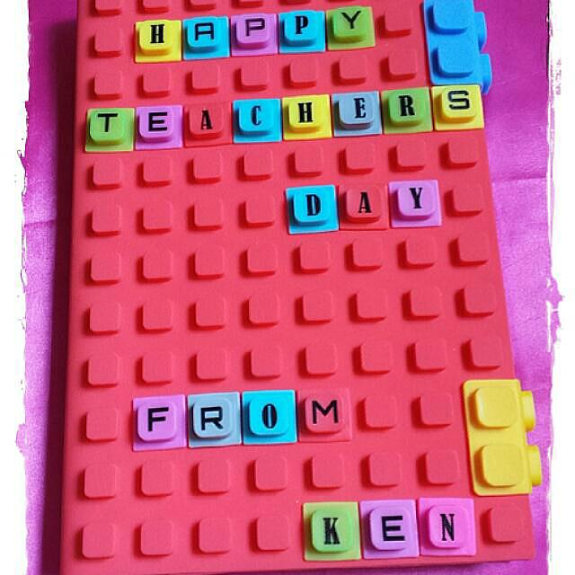 new style 3e63b 6c10c Self DIY Silicone Block Notebook Cover & Notebook & 100pcs Alphabets  Puzzles Cube