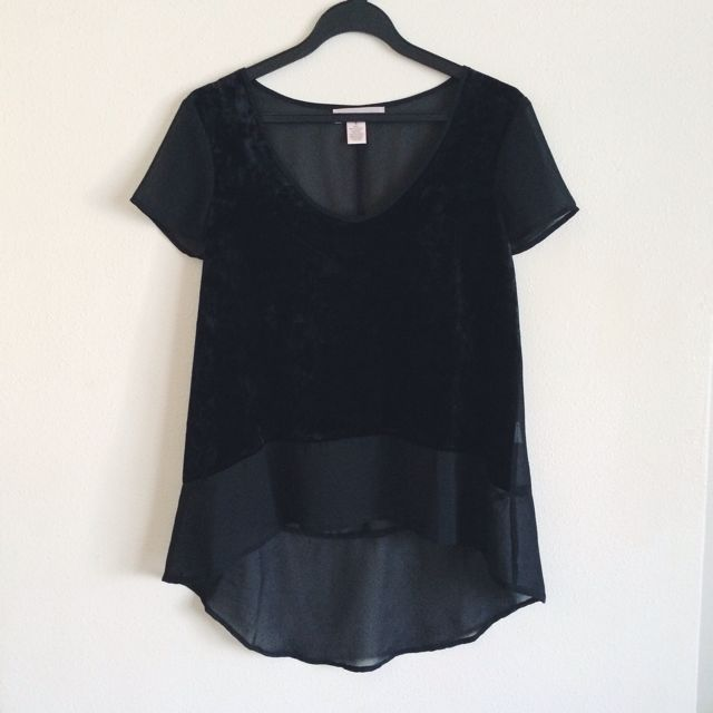 Urban Outfitters Velvet Chiffon Top