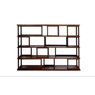 Designer Air Division HDB Wide Bookshelf