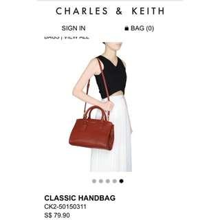Charles and Keith Classic Handbag