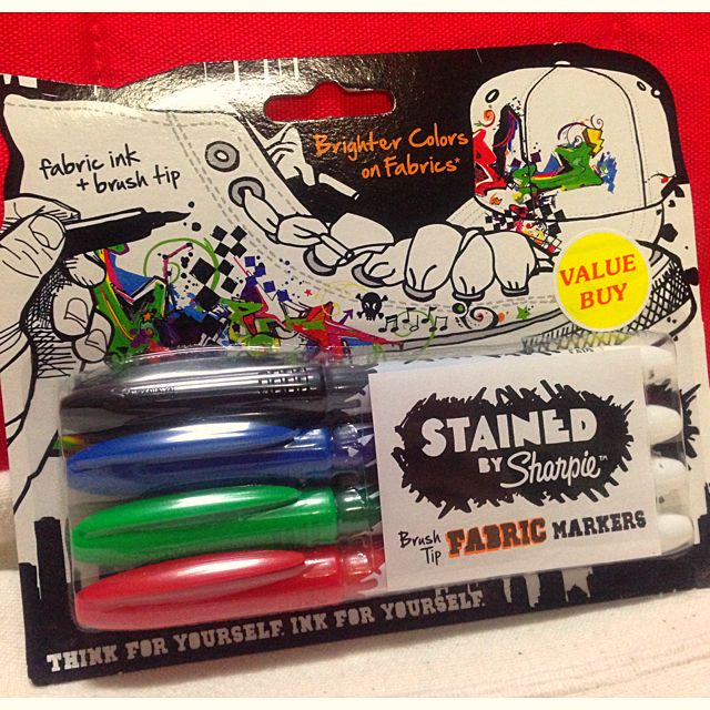 sharpie fabric markers brush tip design craft on carousell