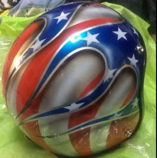 Customized Air Brush Open Face Helmet