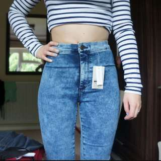 Acidwash Highwaisted jeans