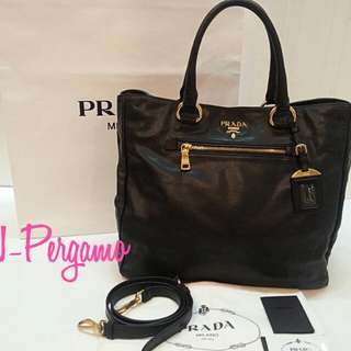 aeb31a74df7d Authentic Prada BN2532 Soft Calf Leather Baltico Tote Bag GHW {{ Only For  Sale }