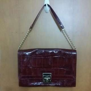 Authentic Kate Spade Maroon Patent Handbag