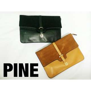 Superb Velvet Material Matches With Leather Clutch