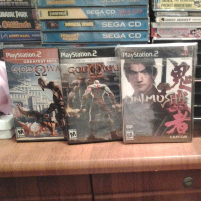 God Of War 1,2 n Onimusha Warlords ORIGINAL PS2 GAMES, Toys