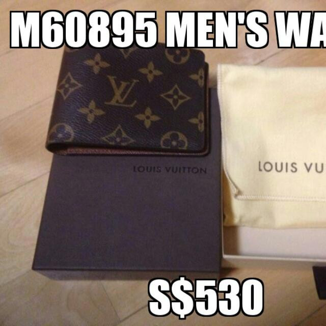 b685ed4e6885 Best price) Original Louis Vuitton Men s Wallet. Model   per picture. Never  used before Please do not expect replies for absurb offers on Carousell