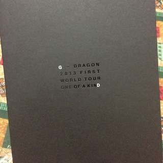 G-Dragon One Of A Kind Tour Pamphlet