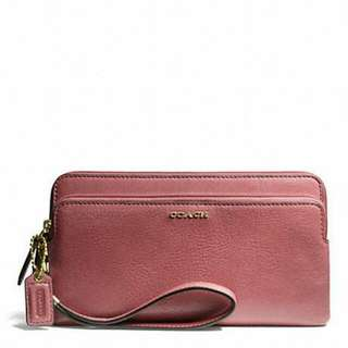 BRAND NEW COACH MADISON LEATHER DOUBLE ZIP WALLET. STYLE: F50468