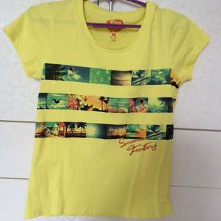 Tee Time Yellow Top