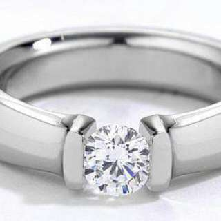 Cincin Berlian Silver Plated