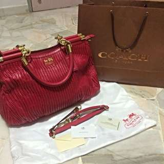 Coach Madison Gathered Leather Carrie