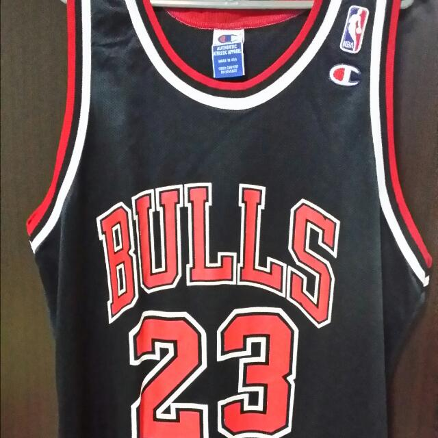 b3de3f96b69 WTS Authentic Vintage Champion Chicago Bulls Michael Jordan No.23 ...