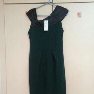 BN Green/ Black Dress From Red 2 (S)