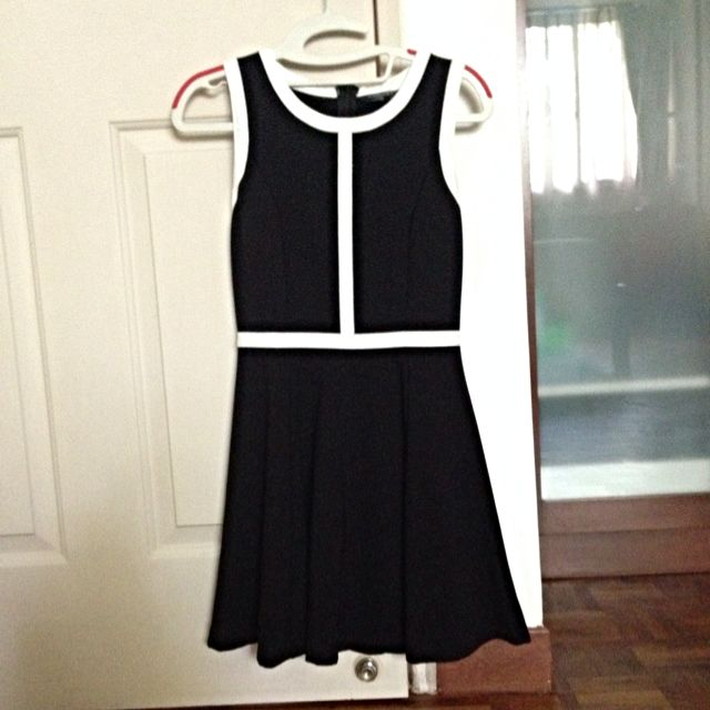 Black & White Skater Dress