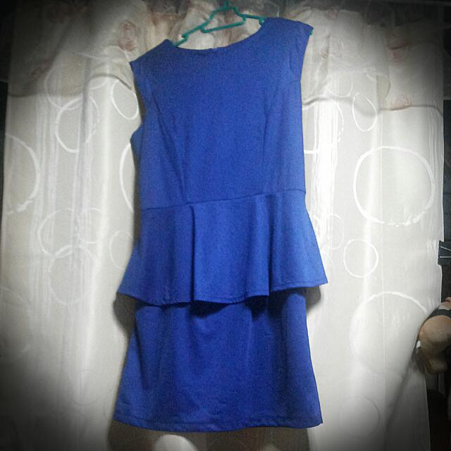 Royal Blue Office Dress