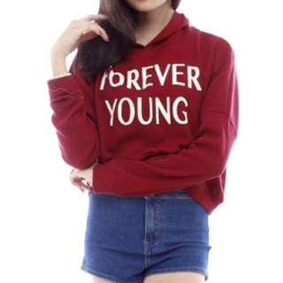 Forever Young Hoodie In Wine Red