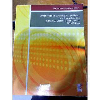 Introduction To Mathematical Statistics And Its Appliciation, 5th Edition