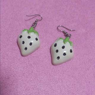 Strawberry Earrings Only