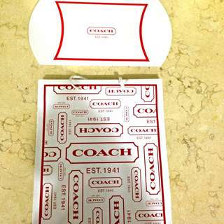 Coach Factory Outlet Paper Bag And Gift Envelope