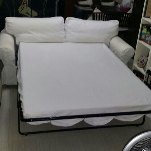 Ektorp Ikea Sofa Bed With Full Pull Out Metal Bed Mechanism With