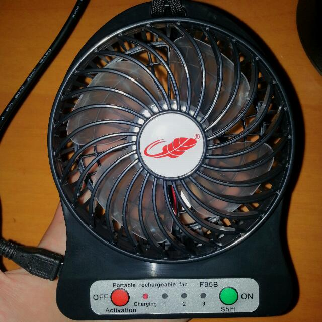 Portable Fan Rechargeable MicroUSB Fan with LED Light. Personal Or Baby Fan!