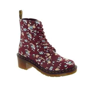 Dr Martens Lynn Cherry Canvas Boots