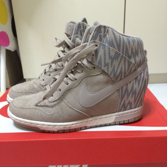Nike Womens Dunk Sky Hi Print wedge Sneakers