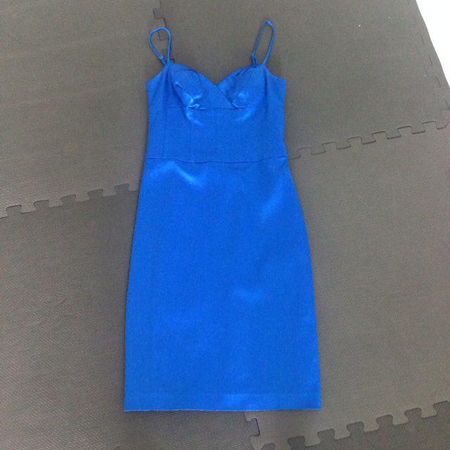 Sapphire Blue Cocktail Dress Uk 8